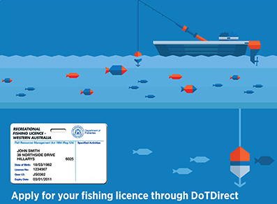 Apply for your fishing licence through DoTDirect