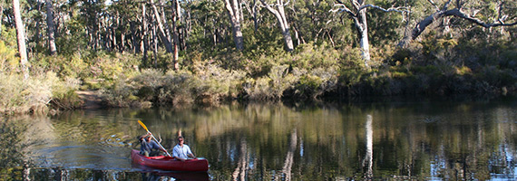 Photo of people canoeing on Margaret River – one of WA's freshwater jewels