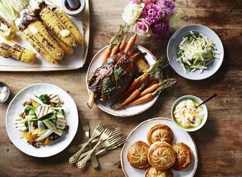 Delicious winter food spread