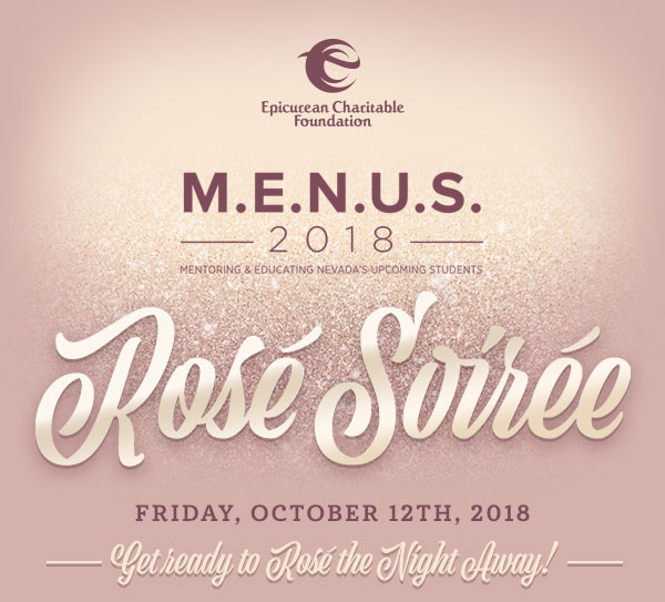 M.E.N.U.S. 2018 Rosé Soirée - Friday, October 12th, 2018 -