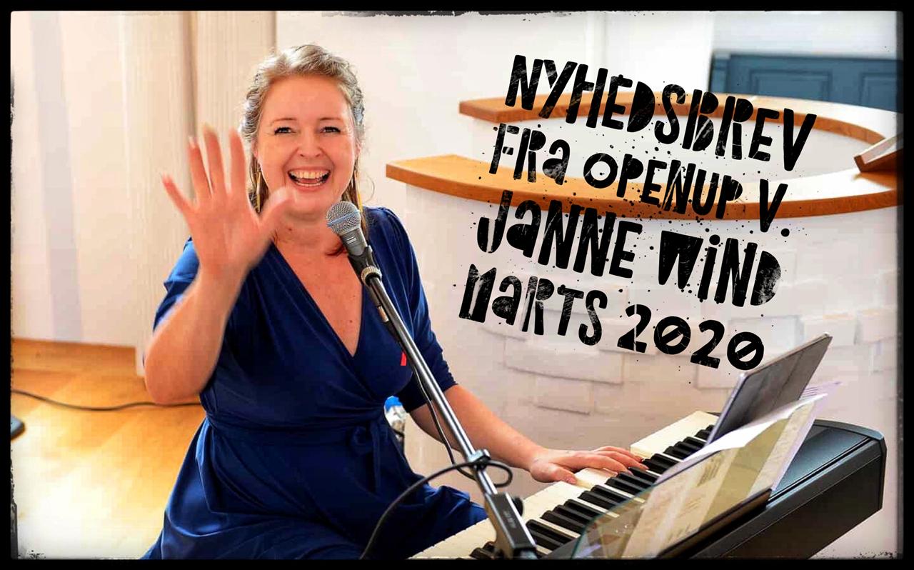 Nyhedsbrev fra OpenUp ved Janne Wind, marts 2020
