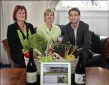 Kerry Scambler and Robyn Lewis (CEO) from VisitVineyards with Minister of Tourism in Tasmania, the Hon. Scott Bacon, MP