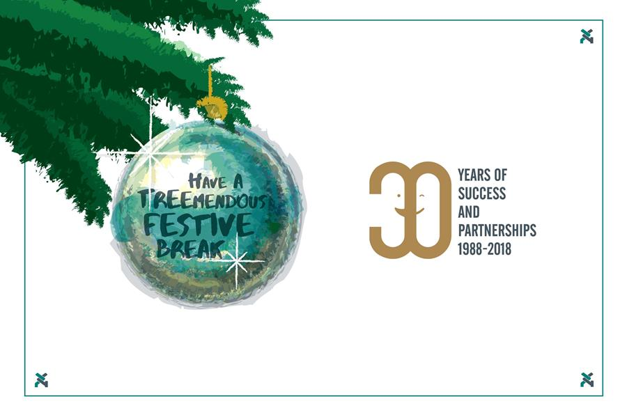 Wishing you a tree-mendous Christmas