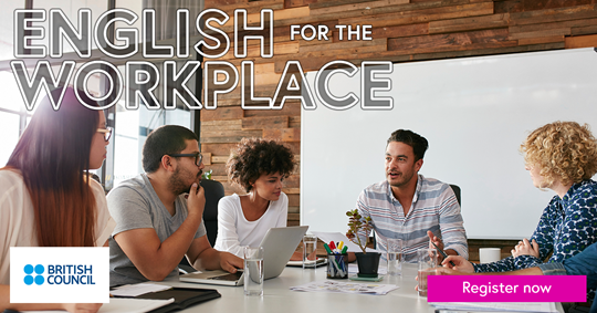 English for the workplace banner