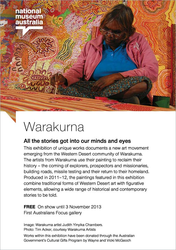 Warakurna: All the stories got into our minds and eyes - now on show!