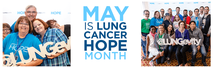 Learn more about Lung Cancer Hope Month at www.LUNGevity.org