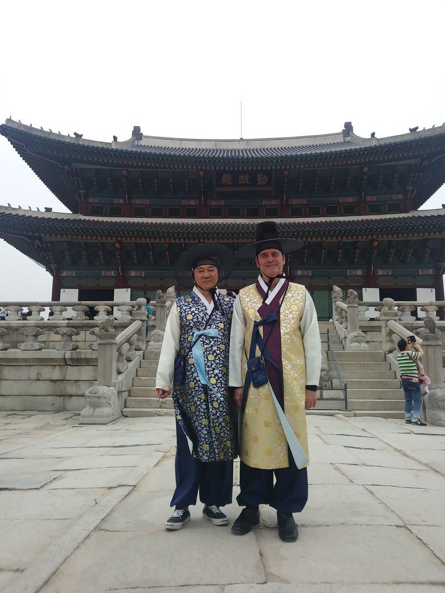 Pictured: David & his principal Korean translator, Sang Keon Yoo.