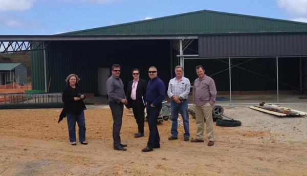 Staff from the Aquaculture Council of WA and the Department and industry representatives visit the Albany Shellfish Hatchery site..