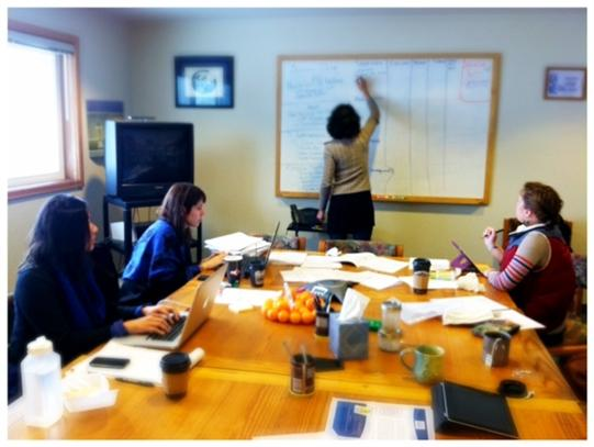 Wrangle/Petersburg staff hard at work.