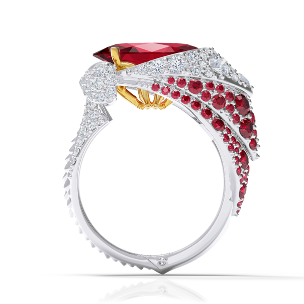 Obey Ruby and Diamond Ring