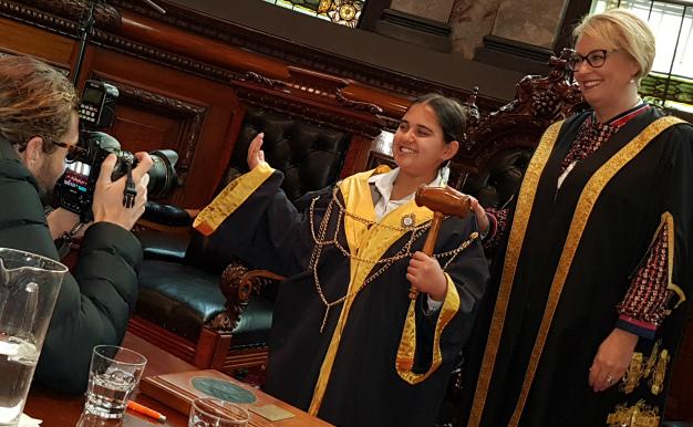 2018 Junior Lord Mayor Chloe Amalfi and Lord Mayor Sally Capp