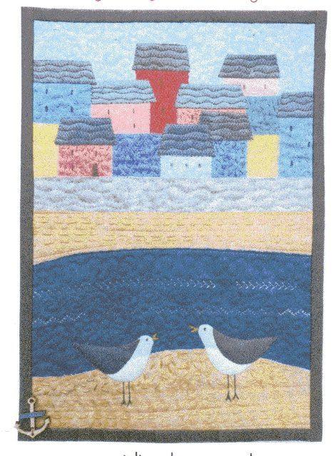 Cornish Village Miniature quilt kit designed by Julia Gahagan