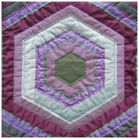 Purple Haze Hexagon pattern by Sylvia Critcher