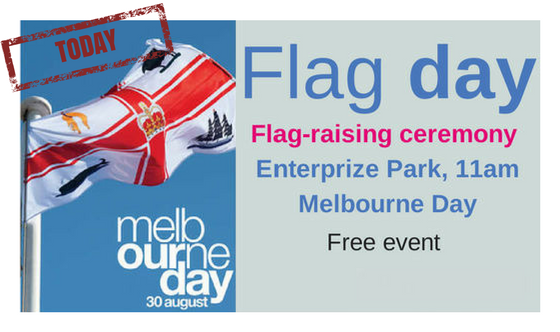 Flag-raising ceremony Melbourne Day