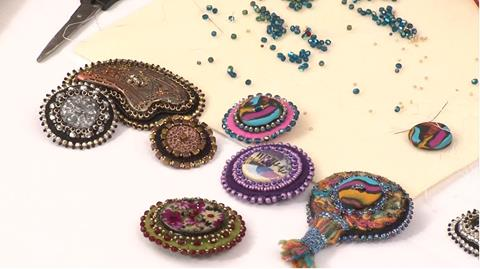 Make Beautiful Beaded Buttons with Fran Rose