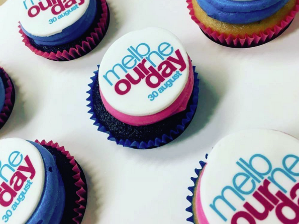 Melbourne Day birthday cupcakes