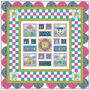 Kitty quilt kit from Lady Sew and Sew