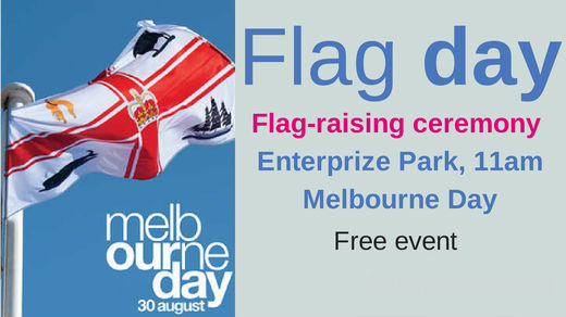Melbourne Day flag-raising ceremony
