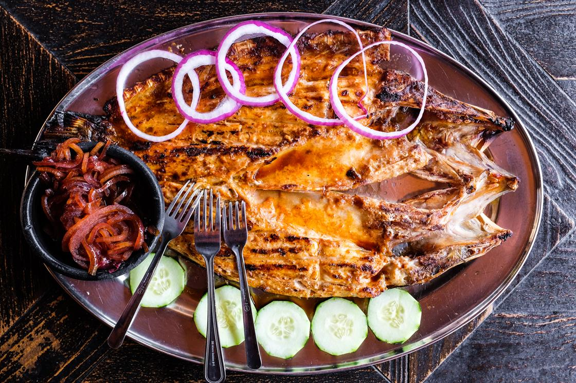 The famous grilled snook at Coni' Seafood
