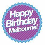 Happy birthday, Melbourne, logo