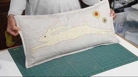 Spring Hare Cushion with Anne Baxter