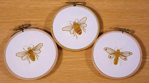 Beginners Goldwork - applying purl wires and chippings