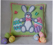 Easter Bunny Cushion designed by Gail Penberthy