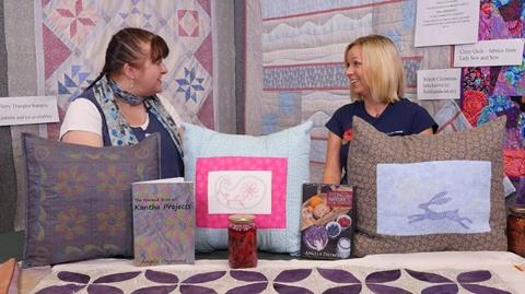West Country Quilt and Textile Show interview with Angela Daymond