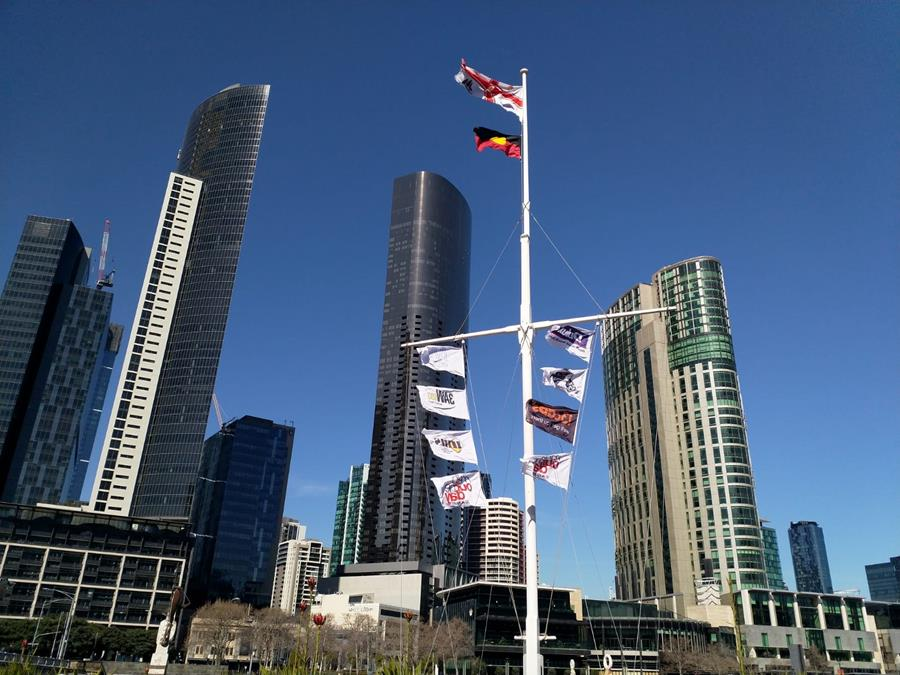 Melbourne flag flying high at Enterprize Park