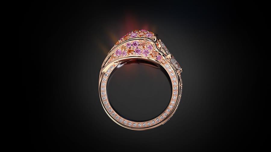 Bespoke pinky sapphire ring