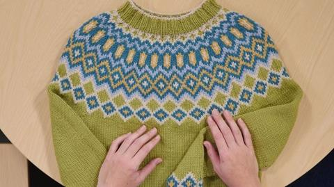 Sigga Sweater pattern from Rosee Woodland
