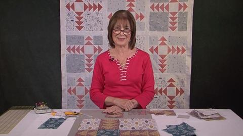 Modern Flying Geese quilt with Valerie Nesbitt