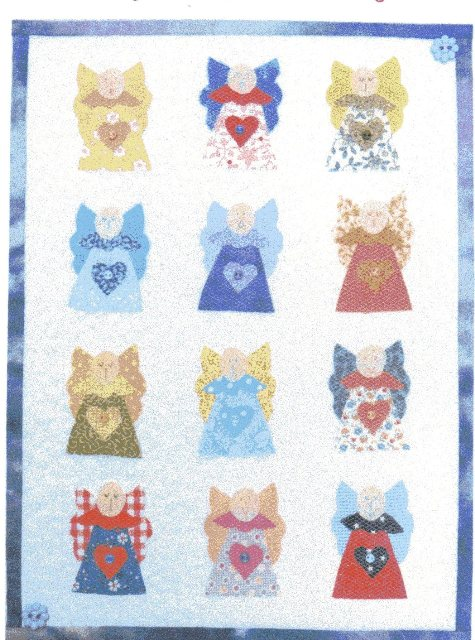 My Favourite Angel Miniature quilt pattern designed by Julia Gahagan