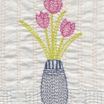 Tulip Kantha Kit by Angela Daymond