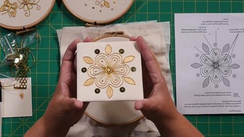 Couching Goldwork with Kathleen Laurel-Sage