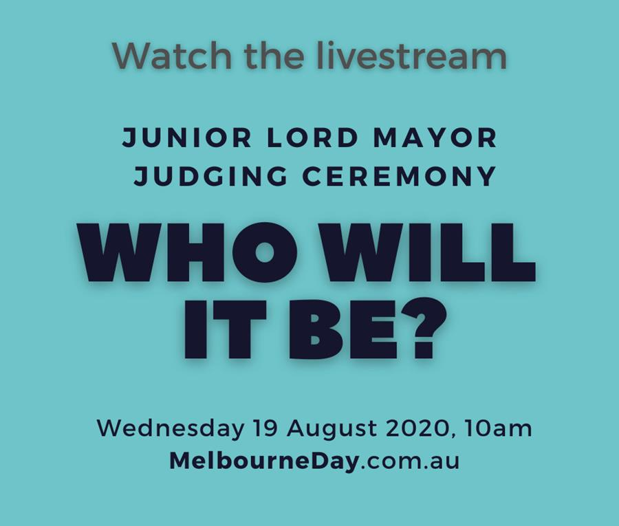 Watch the judging ceremony live stream at MelbourneDay.com.au or YouTube