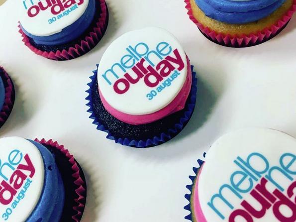 Melbourne Day birthday cupcakes