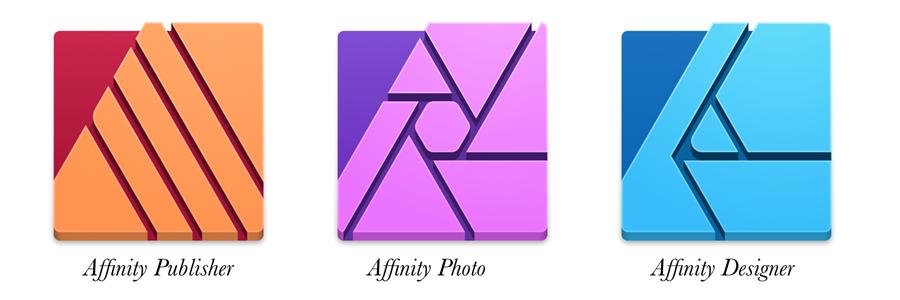 Affinity Publisher, Photo, and Designer apps