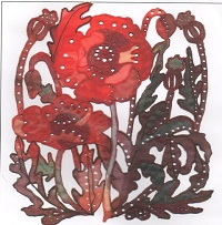 Poppy Machine Embroidery Kit - Kathleen Laurel Sage