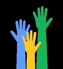 Image: 3 Volunteer Hands