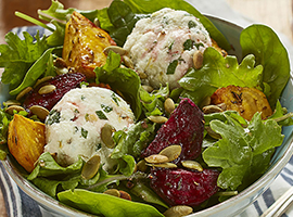 Picture of: Roasted Beets with Herbed Ricotta and Pumpkin Seeds