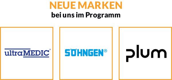 Neue Marken bei uns im Programm
