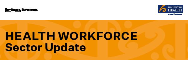 Health workforce sector update