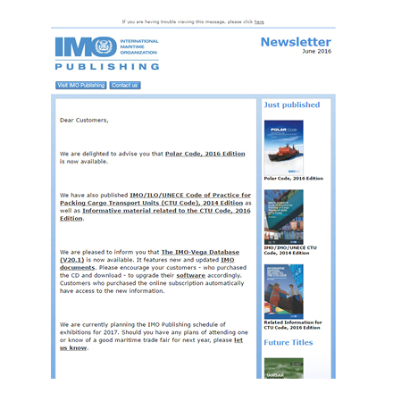 Click here to download the June edition of the IMO Newsletter