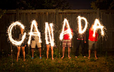Photo of Canada Day Sparklers