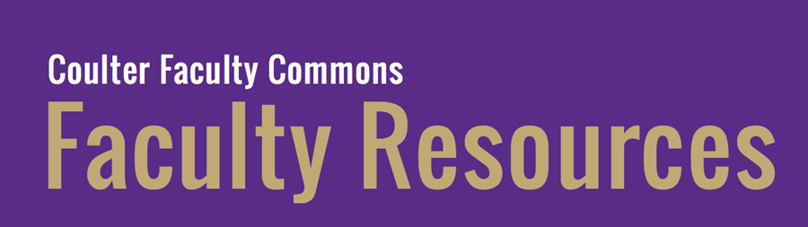Take a look at our Faculty Resources Blog