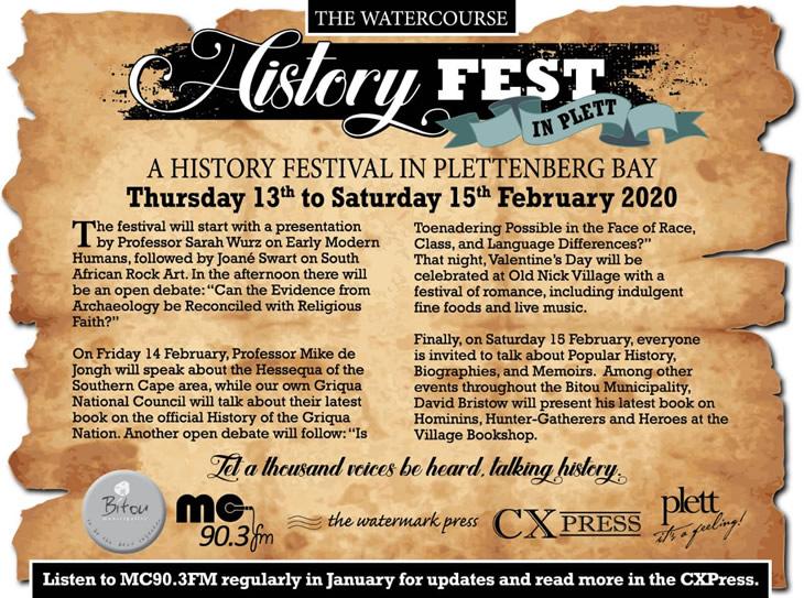 Plett's first history festival