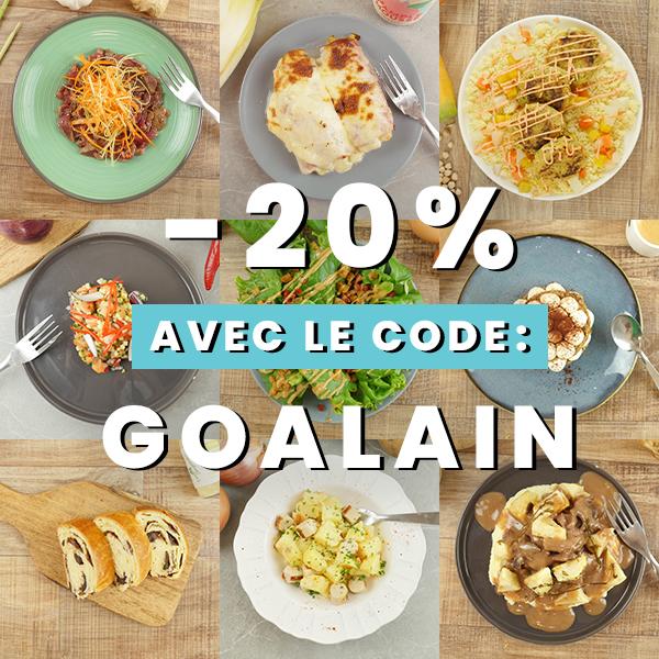 """Photo du code promo -20% """"GOALAIN"""""""