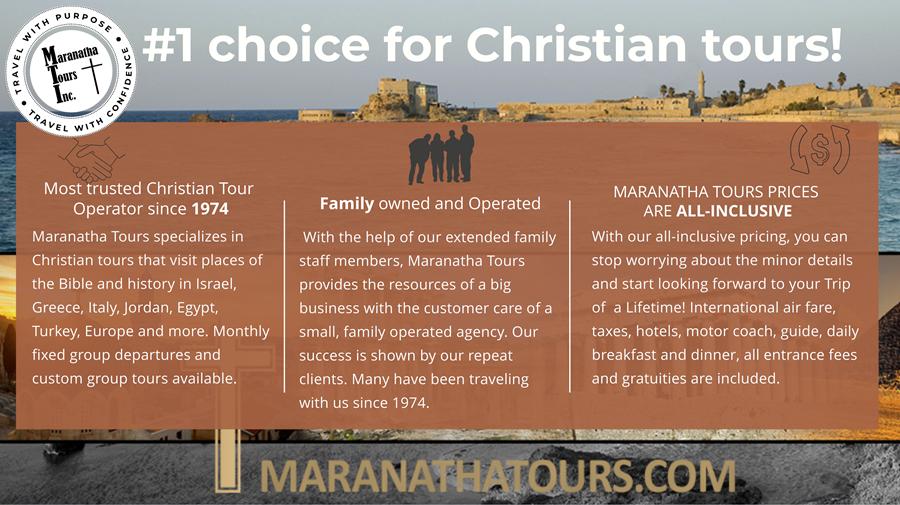 #1 Choice for Christian Tour Agency Maranatha Tours