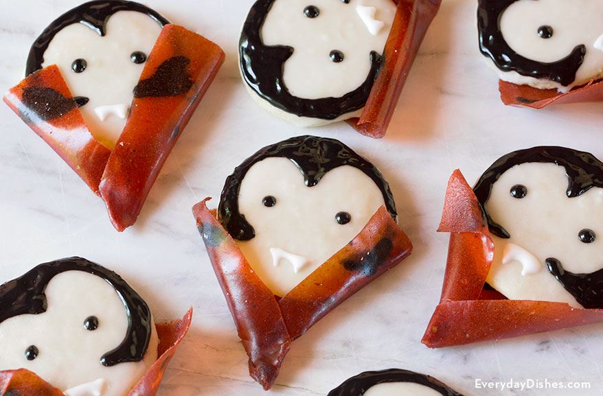 Vampire Sugar Cookies for Halloween